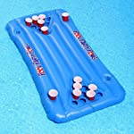 Qingbaotong Blue Table Tennis PVC Inflatable Game Floating Row, Summer Beach Surf Lounge Chair, Home Pool Floating Bed...