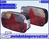 Aspöck Multipoint 3 Rückleuchten Rücklichter Set für Pkw Anhänger links & rechts