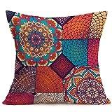 VOVO Wohnkultur❤️Vovotrade Neue Böhmische Muster Indischen Mandala Print Kissenbezug Throw Pillow Cover Auto Kissenbezug Kissenbezug Car Cafe Home Dekoration Ethnischen Zoll Stil (E, 43cm*43cm)