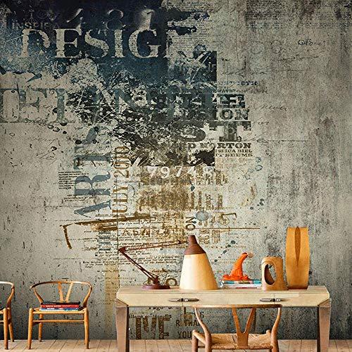 Fototapete 3D - Seide Material Tapete - Moderne Wanddeko - Design Tapete Wandtapete - Wand Dekoration - Retro Graffiti verfallenen Fototapete - 366×254CM