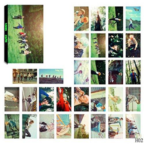 Bellenne 30 Pack BTS Photocard / Fotokarten / Postkarte / Poster, Jungkook, Jimin, V, Suga, Jin, J-Hope, Rap Monster Fanartikel, Sammlung und Beste Geschenk für The Army (H02) (Kpop Sammlung)