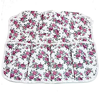 Garden Apron With 5Pockets, Rose Pattern Washable Flowers Gardeners Apron