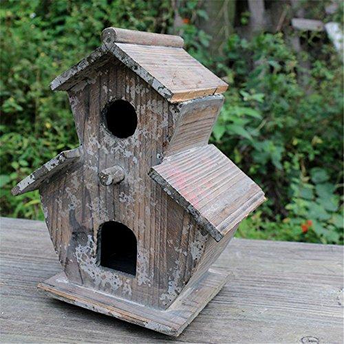 Il villaggio di legno massello nido piccola casa Horticultural decorazioni ornamenti vetrina, marrone chiaro