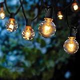 Guirlande Lumineuse Intérieur et extérieur,VIFLYKOO Guirlande Guinguette de 25+4 Ampoules étanche 9.5M Blanc Chaud ampoule Dé