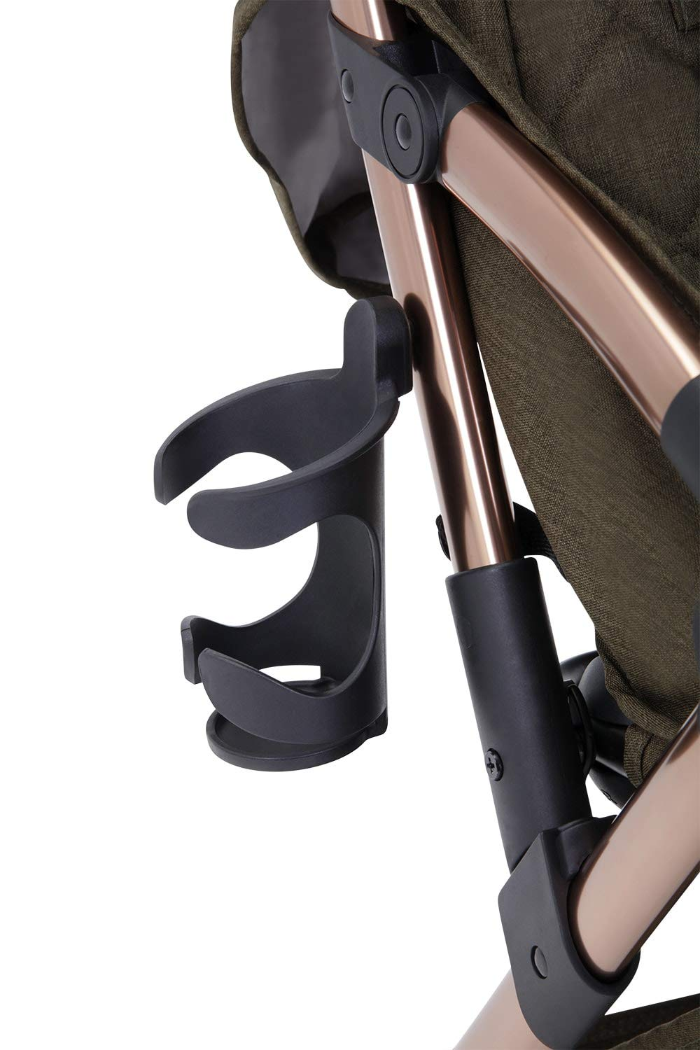 Ickle Bubba Globe Prime Baby Stroller | Lightweight and Portable Stroller Pushchair | Folds Slim for Ultra Compact Storage | UPF 50+ Extendable Hood and Baby Carriage Accessories | Khaki/Rose Gold Ickle Bubba ONE-HANDED 3 POSITION SEAT RECLINE: Luxury baby stroller suitable from birth to 15kg-approx. 3 years old; features luxury soft quilted seat liner, footmuff, cupholder, buggy organiser, storage bag and rain cover UPF 50+ RATED ADJUSTABLE HOOD: Includes a peekaboo window to keep an eye on the little one; extendable hood-UPF rated-to protect against the sun's harmful rays and inclement weather ULTRA COMPACT AND LIGHTWEIGHT: Easy to transport, aluminum frame is lightweight and portable-weighs only 6.4kg; folds compact for storage in small places-fits in aeroplane overhead; carry strap and leather shoulder pad included 6