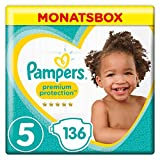 Pampers Premium Protection, Gr.5 Junior, 11-16kg, Monatsbox, 1er Pack (1 x 136 Stück)