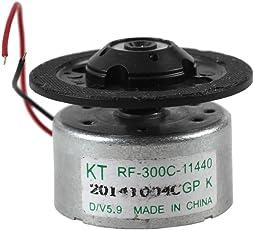 3500 RPM Micro Motor - TOOGOO(R)DC 3V 3500 RPM 2-Draht-Verbindungs DVD-Laufwerk Micro Motor, Silber + Schwarz