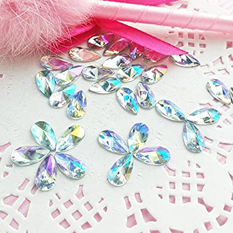 60pcs 8x13mm Teardrop Light Crystal AB Acrylic Special Effect Rhinestonesship with FREE GIFT from YOYOLE (60)