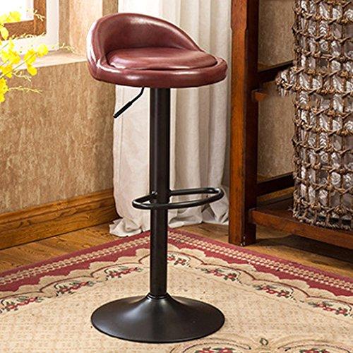 Taburetes de bar de hierro forjado sillas de bar retro taburetes de bar en casa levantados taburetes de bar personalizados sillas de barra vintage pueden elevarse y bajarse girarse 360 grados ( Color : Brown )