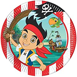 Plato con diseño de Jake y los Piratas, 8 ud.