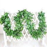 5 Stück Efeu künstlicher, 40 FT 450 Blätter Pflanzen künstliche Gefälschte Efeublätter Girlande Geschenke Party Garten Hochzeit Mauer Wohnkultur