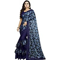 VAIVIDHYAM Women's Banglori Malai Saree with Blouse Piece…