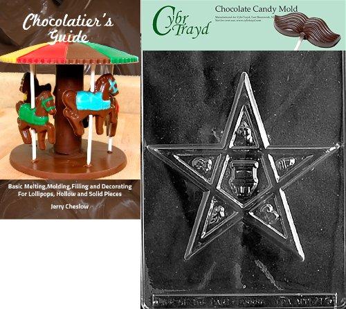 Cybrtrayd Eastern Star Religiöse Form Inkl. Chocolatier-Buch farblos Star Chocolate Mold
