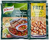 #1: Knorr Soup Hot and Sour Veg Pouch, 51g Free Crunchy Croutons
