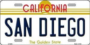 SIGNCHAT Signcat Plaque d'immatriculation Fantaisie San Diego California State 15 x 30 cm