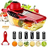 Godmorn Mandolin Slicer Newest 6+1 Vegetable Slicer Multi-function Food Slicer Fruit and Cheese