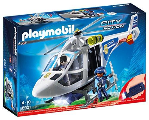 Preisvergleich Produktbild Playmobil 6921 Polizeihubschrauber mit Aussicht Licht, mehrfarbig