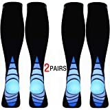Calves Kelson (2 Pairs) Compression Socks/Stockings for Men & Women.Speed Recovery BEST Graduated Athletic Fit for…