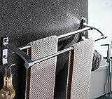 Barra espaciadora de doble barra toalla de vidrio de 60 cm.