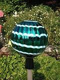 Gartenkugel (R1+Stab) Rosenkugel Gartenkugeln Glas 25 cm groß Rosenstab Gartenstecker