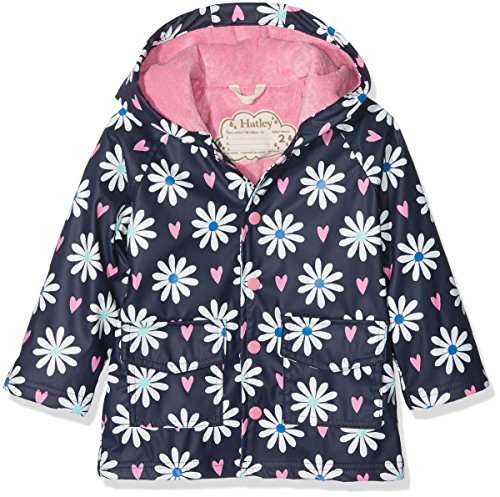 Hatley Girl's Printed Raincoat, Blue(Lovely Daisies), 7 Years (Manufacturer Size: 7)