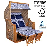 STRANDKORB DEVRIES TRENDY PURE GREENLINE 140 XL - DESSIN 711