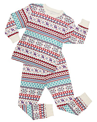 CharmLeaks Jungen Schlafanzug PJs Mädchen Pyjama Unisex Zweiteiler Schlafanzug Lila 116, 4-5 Jahre (Pjs Mädchen)