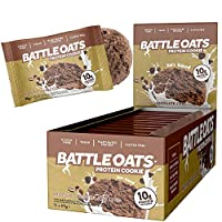 Mocha Chocolate Chip : Battle Oats Protein Cookies, 60g, Mocha Chocolate Chip, Pack of 12