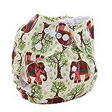 ohbabyka bedruckt Design verwendbar waschbar Pocket Tuch Windel + 1einfügen (Elefant)