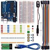 Kuman K22 Licht grundlegende Lern Starter Kit für Arduino mit UNO-R3 AVR MCU Lernenden bis 20 Komponenten (mit UNO-R3)
