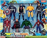 #8: Avengers 8 In 1 Super Heros Action Figure Play Set