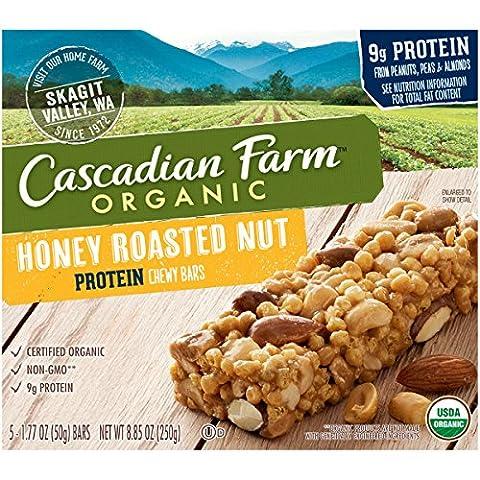 Cascadian Farm Granola Bar Organic Protein Honey Roasted Nut 8.85 Oz Case Of 12