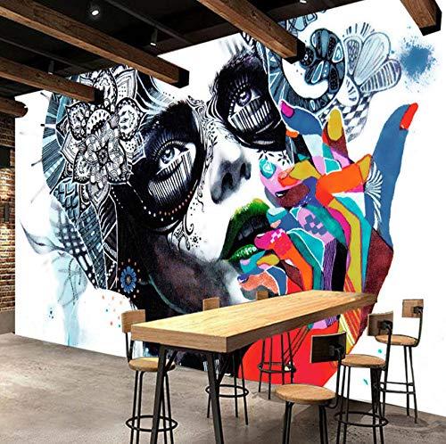 en Aufkleber Wandbilder Tapete Wand Kreative Straßenfarbe Graffiti Schönheit Kunst Kinder Zimmer (W) 300X(H) 210Cm ()