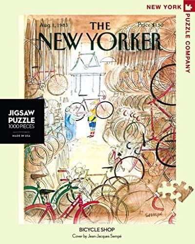 New York Puzzle Company Bicycle Shop 1000 Piece Jigsaw Puzzle | Beau Design