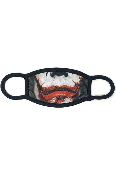 S-XXL Skull Face Motif Mask Multicolour Dilara Cotton Print Joker Mask