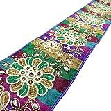 Floral bordado multicolor Craft 10,1 Cm Tela ajuste de la cinta ancha Sari por el astillero