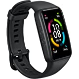 HONOR Band 6 Fitness Tracker, 1.47 Inches AMOLED Screen - Meteorite Black