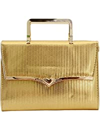Bagaholics Gold Clutch Golden Chain Clutches Ladies Purse Strap Gift For Women