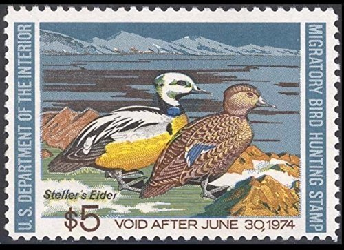 Scott RW40 $5 Federal Duck Stamp Mint Very Fine. Never Been Hinged. by USPS -
