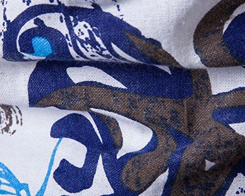Herren Short Sleeve Drucken Sport Muster Leinen T-Shirt Als Bild