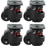 4 stks Niveau Aanpassing Caster, GD ‑ 40F Zware Industriële Roller Wiel Nivellering Zwenkwielen voor Bewegende Werktafels