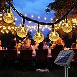 Solar String Lights Outdoor , DeepDream 40 LED 7.5M/25Ft Waterproof Festival Garden Lights Crystal Ball Decorative Fairy…