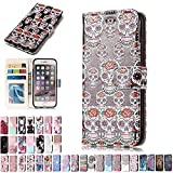 LA-Otter Coque Apple iPhone 5 5S Se Fleur Squelette Flip Case Housse Etui à Rabat...