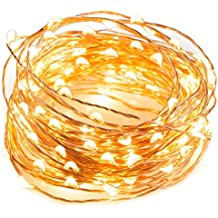 LTETTES Beauty Lights Copper String 100 LED Light, USB Operated Wire for Diwali, Christmas, 10 m, Warm White