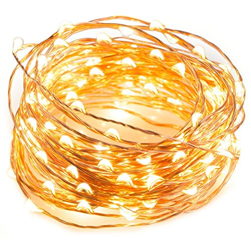 LTETTES Beauty Lights Copper String LED Light 10 m 100 USB Operated Wire Decorative Lights (Warm White)