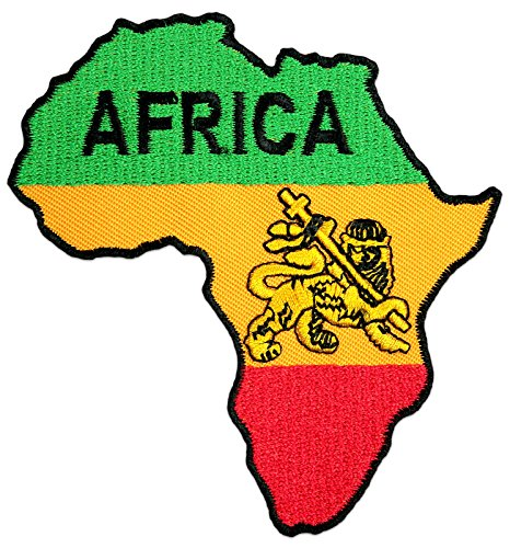 Lion of Africa Aufnäher Aufbügler Patch Reggae Ragga Afrika Äthiopien Raggaton Party Festival (Klein)