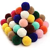 RUBY - 50 Pompons pour Artisanat, décoratifs et Loisirs Fournitures Diamètre 30 mm (Multicolore)