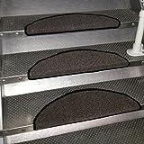 Markenlos 15er Set Stufenmatten Treppenschoner Treppenmatte Treppe GRATIS VORLEGER (anthrazit)