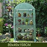ZCCWS Garden Grow Gartengewächshauspflanzen, 4-stöckig mit aufrollbarer Tür und verstärkter PE-Abdeckung für die Temperaturkontrolle (Gewächshaus) (Farbe : B)