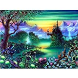 Aobuang 5D Diamond Painting kit, fai da te trapano completo strass ricamo PICTURES Arts Craft for home Wall Decor Gift, Wonderland, 30 x 39,9 cm